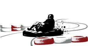 Go-kart. On racecourse, vector illustration Royalty Free Stock Photos