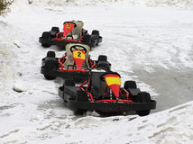 Go kart. On the snow Royalty Free Stock Images