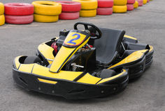 Go Kart. An empty Go Kart on racecourse Stock Images