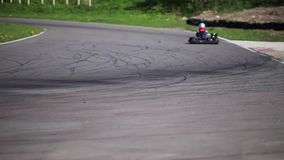 Go-kart in a curve stock video footage