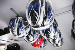 Go-Kart helmets Royalty Free Stock Photography
