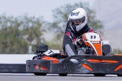 Go-kart pilot racing Royalty Free Stock Images