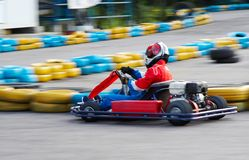 Go-kart race Royalty Free Stock Photo