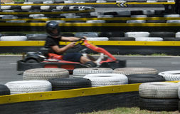 Go-kart on race circuit Royalty Free Stock Image