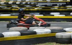 Go-kart on race circuit royalty free stock image