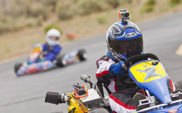 Go Kart Race Driver Royalty Free Stock Photography