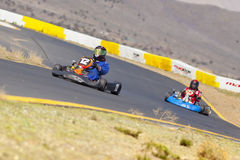 Go Kart Race Drivers Stock Image
