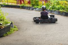 Go Kart Racer on the road in nature royalty free stock photography