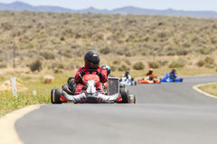 Go Kart Racers Stock Photo