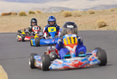 Go Kart Racers Stock Photo