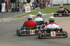 Go kart racing stock photo
