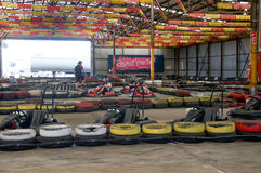 Go Kart Racing Royalty Free Stock Image