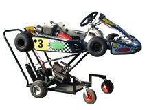 Go Kart & Service Trolley Royalty Free Stock Image