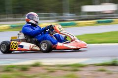 Go-kart on the straight Stock Image