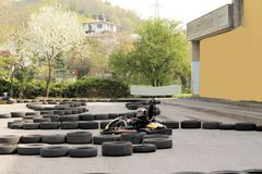 Go-kart. Track staged outdoors by race stock photos