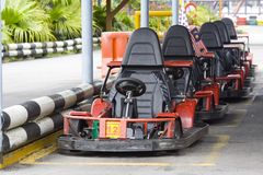 Go karts Stock Photo