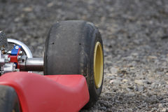 Go Karts Detail. Detail of a Competition Class Go Kart Stock Photo