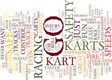 Go Karts Are Fun But Are They Safe Text Background  Word Cloud Concept. GO KARTS ARE FUN BUT ARE THEY SAFE Text Background Word Cloud Concept Stock Image
