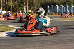 Go Karts Race Royalty Free Stock Image