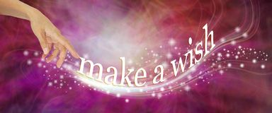 Go on and make a wish royalty free illustration