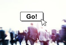 Go Motivation Encourage Click Technology Concept Stock Image