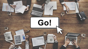 Go Motivation Encourage Click Technology Concept Royalty Free Stock Photos