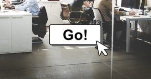 Go Motivation Encourage Click Technology Concept. Go Motivation Encourage Click Technology royalty free stock image