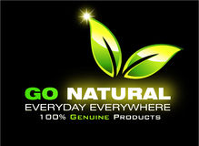 Go natural environment card Stock Photography