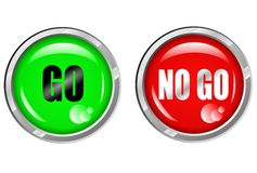 Go NoGo Button Royalty Free Stock Images