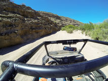 Go off roading. Polaris Rzr on the flats in an Arizona canyon Royalty Free Stock Photo