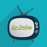 Go online vector illustration