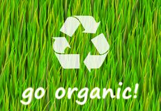 Go Organic. And Natural Now Abstract Background Royalty Free Illustration