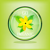 Go organic sign Royalty Free Stock Photo