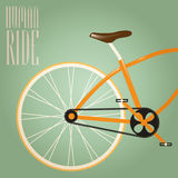 Go out with bicycle. Illustration stock illustration