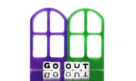 Go out of doors Stock Images