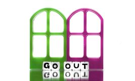 Go out text message with frames Royalty Free Stock Photography