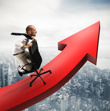 Go over to success Stock Image