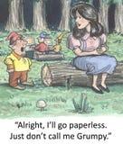 Go paperless Stock Photo