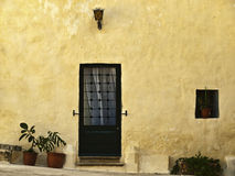 Go Pjazza Mesquita. Typical facade of an old Maltese house of character Stock Image