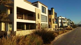 Go Pro Bike Ride Along Beach Houses Strand 4k stock video
