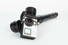 Go Pro Hero 4 Black Edition with gimbal. Stock Images