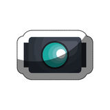 go pro video camera icon Royalty Free Stock Photos