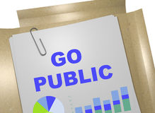 Go Public - business concept Royalty Free Stock Images