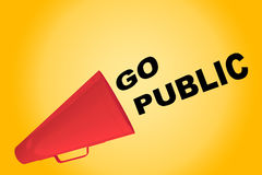 Go Public concept Stock Photography