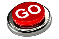 Go Push Button Royalty Free Stock Image