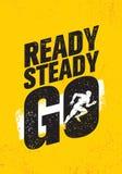 go ready steady Έμπνευση Workout και σημάδι απεικόνισης αποσπάσματος κινήτρου γυμναστικής ικανότητας Δημιουργικό ισχυρό αθλητικό  ελεύθερη απεικόνιση δικαιώματος