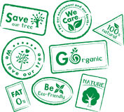 Go recycle, Go Green Icon Set Stock Photo
