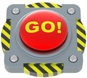 Go! red button. Royalty Free Stock Photos
