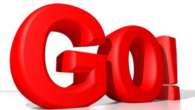 GO! red Royalty Free Stock Photo