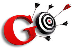 Go red word and conceptual target Royalty Free Stock Photos